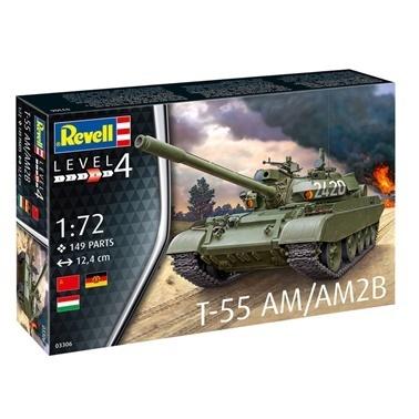 Revell Revell Maket 1:72 T-55 AM  Renkli